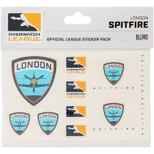 London Spitfire Overwatch League 10 Pack Team Car Stickers