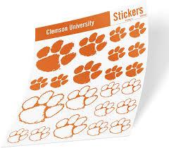 Amazon Com Clemson University Ncaa Sticker Vinyl Decal Laptop Water Bottle Car Scrapbook Type 1 Sheet Arts Crafts Sewing