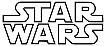 Vinyl Decal Star Wars Logo Outlined