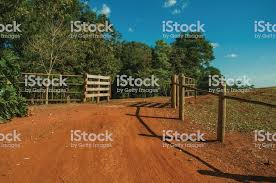 Farm Gate With Cattle Guard And Barbed Wire Fence Stock Photo Download Image Now Istock