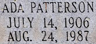 Ada Patterson Rose (1906-1987) - Find A Grave Memorial