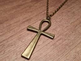 huge bronze ankh necklace egyptian