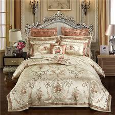 luxury wedding satin jacquard bedding