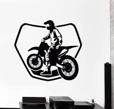 Wall Sticker Bike Biker Drive Speed Race Track Motorcycle Vinyl Decal Wallstickers4you
