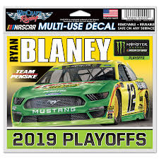 Ryan Blaney Wincraft 2019 Monster Energy Nascar Cup Series Playoffs 4 X 6 Multi Use Decal