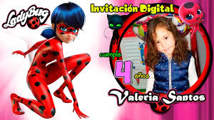 Video Invitacion Ladybug Miraculous Cumpleanos Youtube