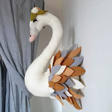 Baby Room Decor Beautiful Felt Swan To Complete Your Kids Room Tik Tak Design Co
