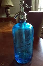 b nierenberg blue glass seltzer bottle
