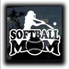 Softball Mom A1 Vinyl Decal Stickers Sticker Flare Llc
