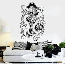 Vinyl Wall Decal Pirate Octopus Tentacles Kraken Ocean Creature Stickers Ig3663 Ebay