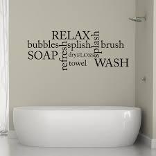 Bathroom Wall Decal Bathroom Word Cloud Bathroom Sticker Etsy