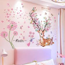 Best Discount 1bc6 Deer Rabbit Animal Wall Stickers Diy Dandelions Flowers Wall Decals For Kids Rooms Baby Bedroom Home Decoration Cicig Co