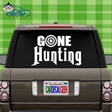 Amazon Com Car Decal Geek Gone Hunting Vinyl Decal Sticker Bumper Cling For Car Truck Window Laptop Macbook Wall Cooler Tumbler Die Cut No Background Multi Sizes Colors Green 20 Automotive