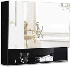 solid wood bathroom mirror cabinet