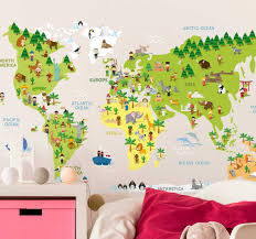 Stereotypes World Map Wall Sticker Tenstickers