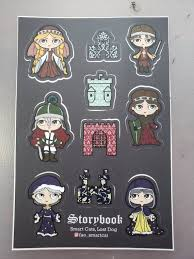 Storybook Medieval Characters All Weather Vinyl Sticker Sheet Etsy