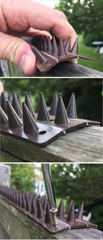 Prikka Strip Garden Security Spikes Are Easy To Fit To Fence Tops Just Shape Fit And Screw Down Choice Of Seven Colours Buy Fence Security Fence Cat Fence