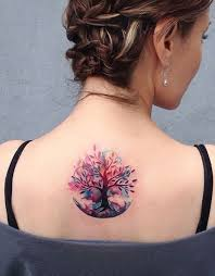 picture of colorful tree of life tattoo