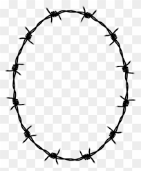 Borders And Frames Barbed Wire Drawing Fence Barbwire Smiley Face Clipart 24912 Pinclipart