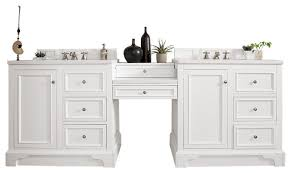 94 double vanity set bright white w