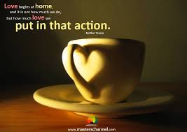 love begins at home sunday quote good morning coffee love