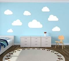 Amazon Com Cloud Wall Decals Clouds Nursery Wall Decal Set Of 8 Clouds Wall Decal Childrens Room Decor Kids Room Teen Room Vinyl Wall Decal Clouds Kitchen Dining