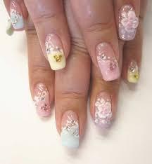Pastel Disney Nails #pastel #nails #nail art #rhinestone