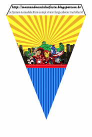 Banderines De Los Vengadores Comic Para Imprimir Gratis Banderin
