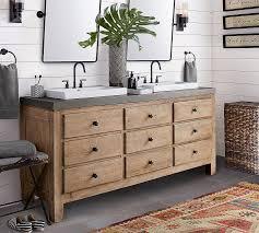 mason double sink vanity wax pine 72