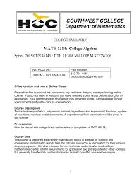 math1314 course syllabus