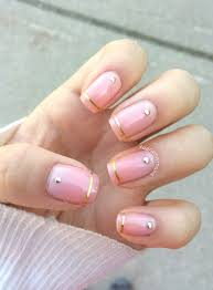 acrylic nails gold and white new