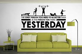 Motivational Inspirational Gym Wall Decals Workout Fitness Crossfit Exercise Room Art Decor Vinyl Stickers Quotes Sayings Signs Poster Decorations Beast Mode On Gy331 Surfavenuemall