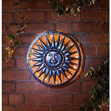 dealz 40cm bronze sun metal wall art