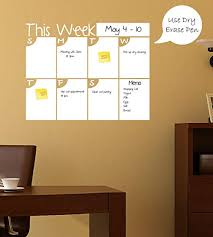 Amazon Com This Week Dry Erase Calendar Wall Decal Home Kitchen