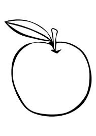 Kleurplaat Appel Knutselen Thema Eten Appels