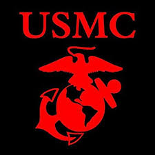 Amazon Com Red Marine Ega Window Decal Sticker United States Marines Automotive