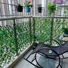 Hot Price 28946 Retractable Artificial Garden Fence Expandable Faux Privacy Fence Wooden Hedge Plants Decor Gardening Hanging Panels Decorative Cicig Co
