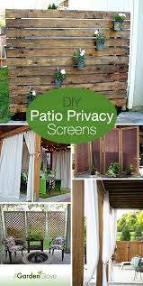 Diy Patio Privacy Screens The Garden Glove Diy Patio Backyard Backyard Patio