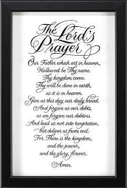 Framed Wall Art The Lord S Prayer Contemporary Wall Accents By New And Exciting Dicksons And Jozie B