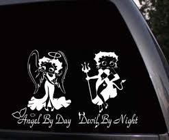 Betty Boop Angel Devil Girl Car Window And 44 Similar Items