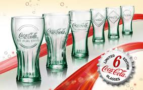 coca cola retro promotional glasses