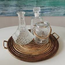 glass jar with rope tealight holder