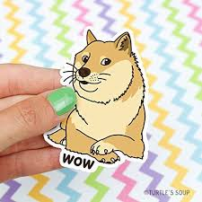 Doge Vinyl Sticker Wow Shiba Inu Gift Buy Online In Cayman Islands At Desertcart