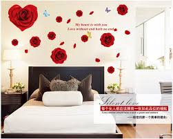 Romantic Roses Wall Stickers Home Decor Waterproof Removable Wall Decals Bedroom Living Room Warm Background Wallpaper Warm Home Decor Olivia Decor Decor For Your Home And Office