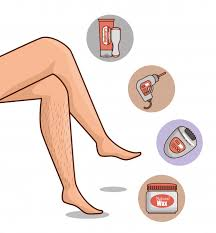 woman s legs with hair removal tools