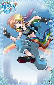 mlp fim rainbow dash human my little