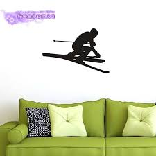 Ski Wall Sticker Decal Skiing Posters Board Vinyl Wall Decals Pegatina Decor Mural Ski Car Decal Sticker Wall Stickers Aliexpress