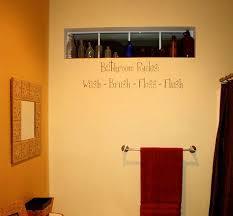 Bathroom Rules Bath Wall Decals Trading Phrases