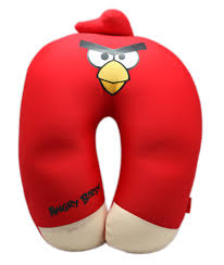 Neck Pillow - Angry Birds Red Bird Soft and Squishy Travel Neck ...