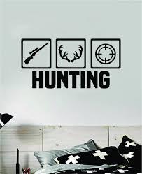 Hunting Wall Decal Home Decor Sticker Vinyl Art Room Bedroom Animals K Boop Decals